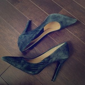 Zara Black Suede High Heel Pointy Toe Shoe
